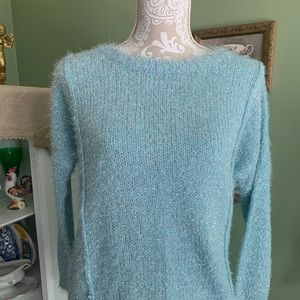 Beautiful Blingy Blue Jenifer Lopez Sweater. XS